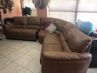 Leather sectional with two recliner seats  Hialeah, 33015