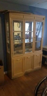 brown wooden china cabinet with cabinet Lyons, 60534