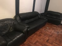 black leather 3-seat sofa and loveseat Maplewood, 07040