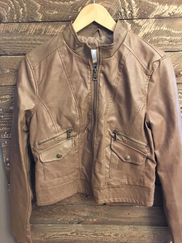 LIKE NEW Faux leather jackets 04663a88-b718-49a8-98f1-18beff6459d1
