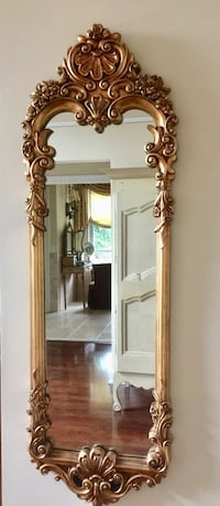 brown wooden framed wall mirror Freehold, 07728