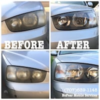 Car headlight restoration Vallejo