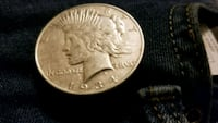 1934 double struck Denver Peace Dollar  Houston, 77045