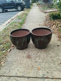 two black ceramic candle holders Clifton, 20124