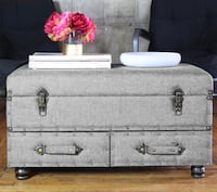 NEW IN BOX!! Gray bench/trunk/coffee table with storage from Wayfair NEW NEVER OPENED!! New Orleans, 70118