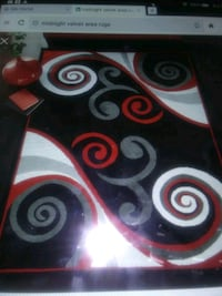 Area Rug 5'3 x 7'3 and Runner 2'3 x 7'3 color Red/Black