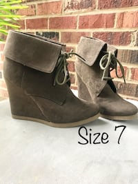 Gray Lace Up Booties Springfield, 22151