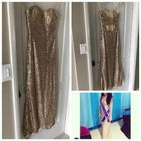 Gold Prom Dress, Pageant Dress, Evening Gown DOWNEY