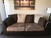 Tan and brown suede 2-seat sofa Los Angeles, 91607