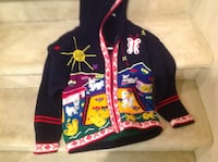 Multicolored hooded jacket/sweater, navy Beaconsfield, H9W 5C5