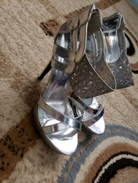 silver dressy shoes