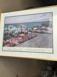 Diane Romanello Flowers by the sea painting