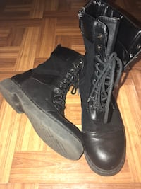 pair of black leather combat boots Forest Heights, 20745