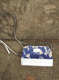 blue and white Coach wristlet Dumfries