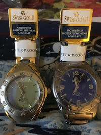 two swiss gold mens watches  SANJOSE