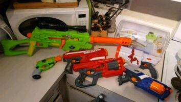 Small nerf gun collection 2010 to 2017
