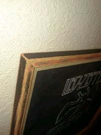 One of a Kind hand sanded frame with Led Zeppelin