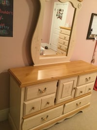 white and brown wooden dresser with mirror Courtice, L1E
