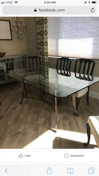 Glass dining table and 6 chairs Lathrop, 95330