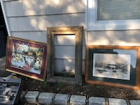 2prints and 1 carved wood frame  Smithtown, 11787