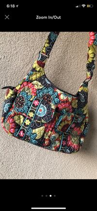 black, red, and white floral crossbody bag San Antonio, 78245