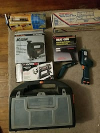 Tools tile cutter, jigsaw, heat gun, saws all, cas