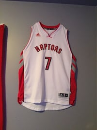 White and red basketball jersey men's large
