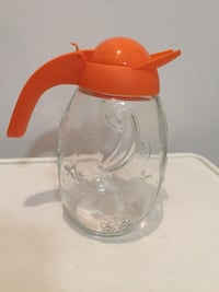 Glass juice jug