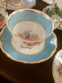 Staffordshire Fine Bone Teacup and Saucer Calgary, T2Y 2W5