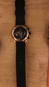 Chronograph bronze front with black band watch Washington, 20019
