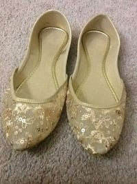 pair of beige leather flats Sterling, 20164