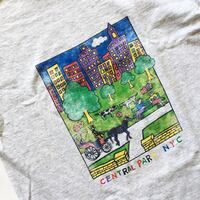 Large- Vintage nyc Central Park Art tee Toronto, M6M 5A7