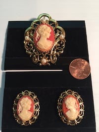 Cameo Brooch & earring s set new Derwood, 20855