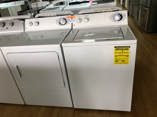 GE white washer and dryer set
