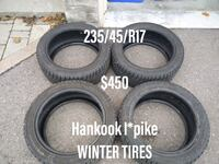 Hankook i*pike winter tires 235/45/R17 555 km