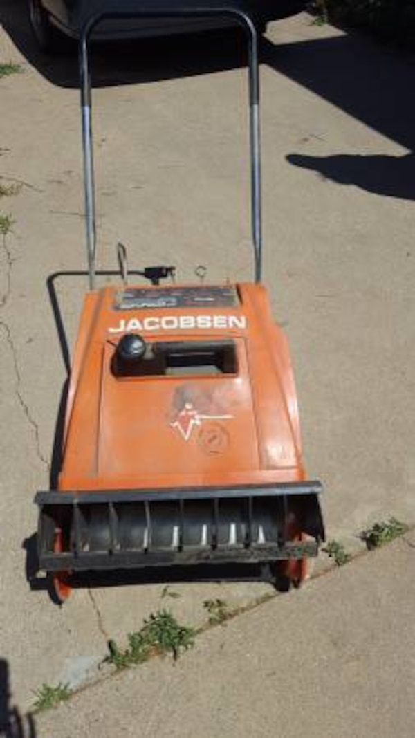 Snowblower for saleJacobsen snowblower for sale  Came from Minnesota but  has never been used in Colorado  Motor turns over but it is currently out  of