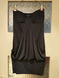 Black strapless dress with front pockets size S Calgary, T2E 0B4