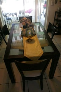 brown wooden frame glass top table Orlando, 32808