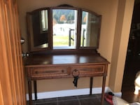 Brown wooden dresser with mirror Kelowna, V1Z