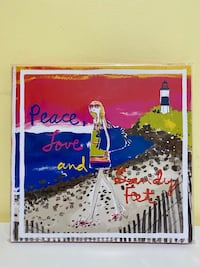 Juicy Peace, Love and Sandy Feet Notebook