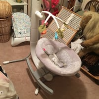 baby's gray and white cradle and swing Columbus, 31820