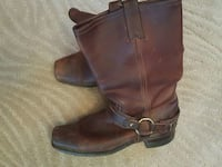 pair of brown leather Frye buckled riding boots 25 mi