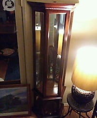 brown wooden framed glass display cabinet Carson, 90745