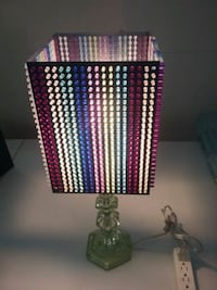 """Colorful accent lamp 21 1/2"""" tall, 8"""" wide 3709 km"""