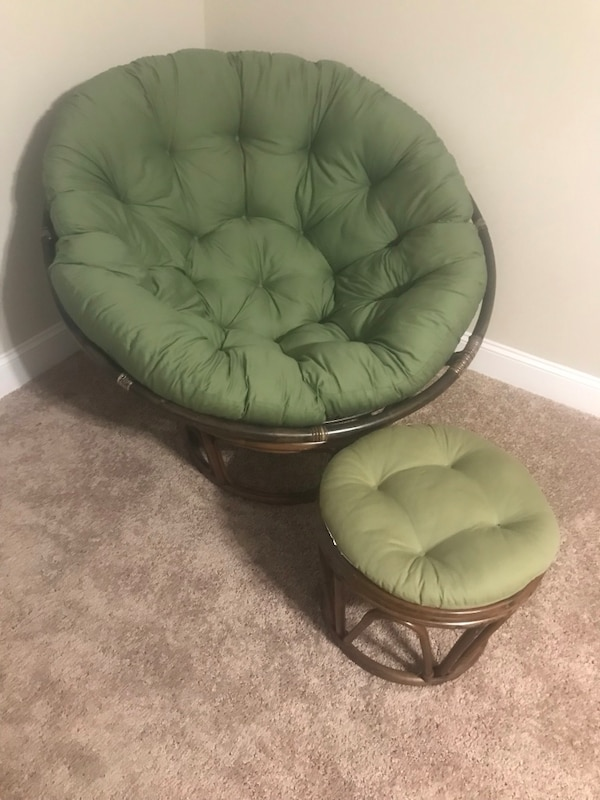 Peachy Great Condition Papasan Chair With Footstool Cjindustries Chair Design For Home Cjindustriesco