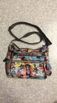 Black, red, and yellow floral crossbody bag Vancouver, V5P