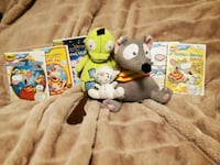 Toopy, Binoo & Patchy patch stuffgs with 5 dvds Edmonton, T6T 1A5