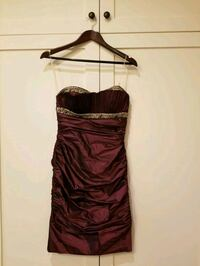 Purple Strapless Nicole Bakti Dress Mississauga, L5B 1W3