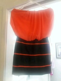 Strapless with Attached Mini Skirt Dress