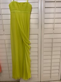 Lime Green BCBG Gown- size 2